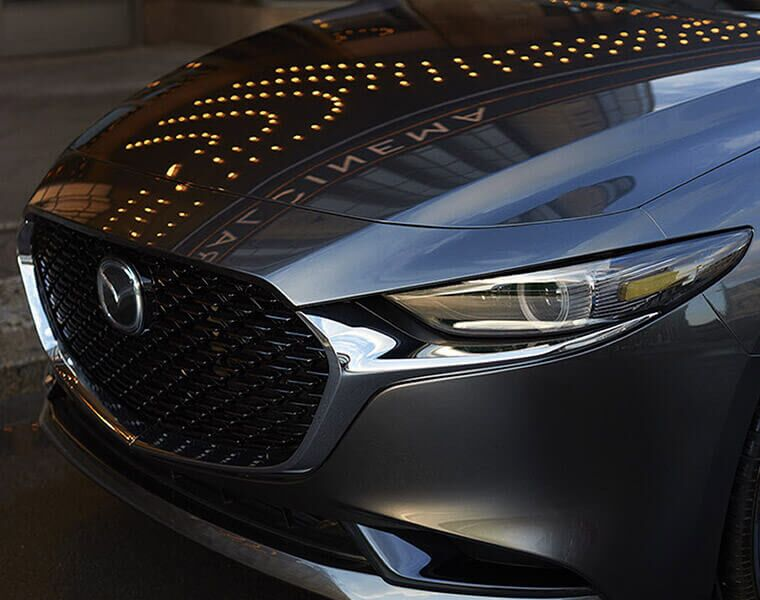 Front grille of a 2019 Mazda3