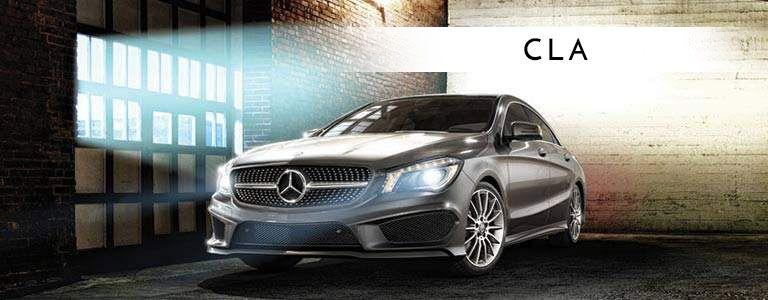 grey 2018 Mercedes-Benz CLA in a warehouse