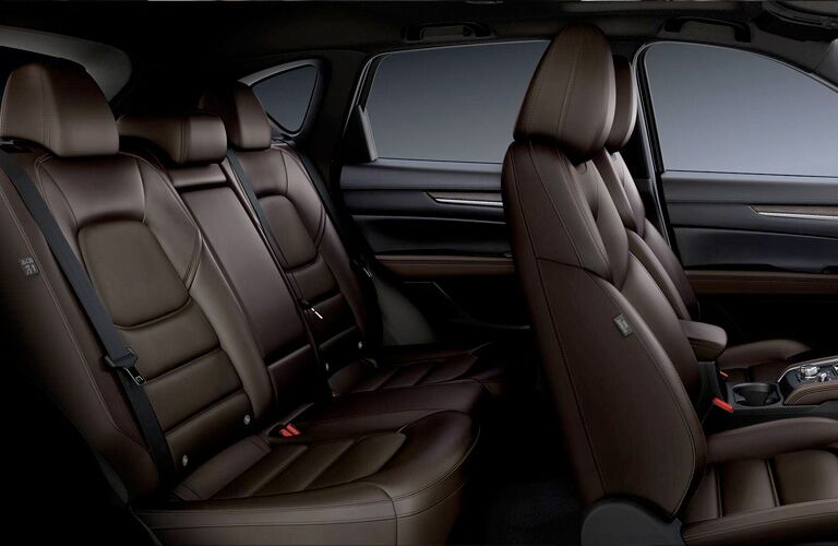 Interior view of the rear seating area inside a 2019 Mazda CX-5