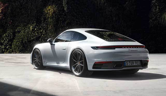 A parked Porsche in , IL