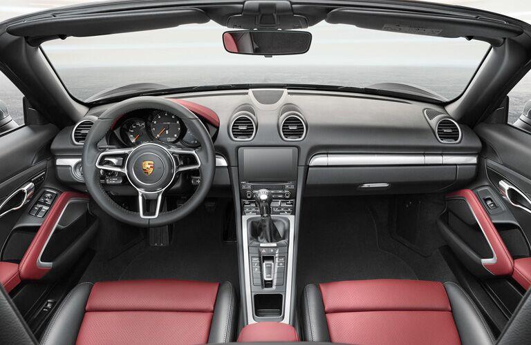 2018 Porsche 718 dash and wheel