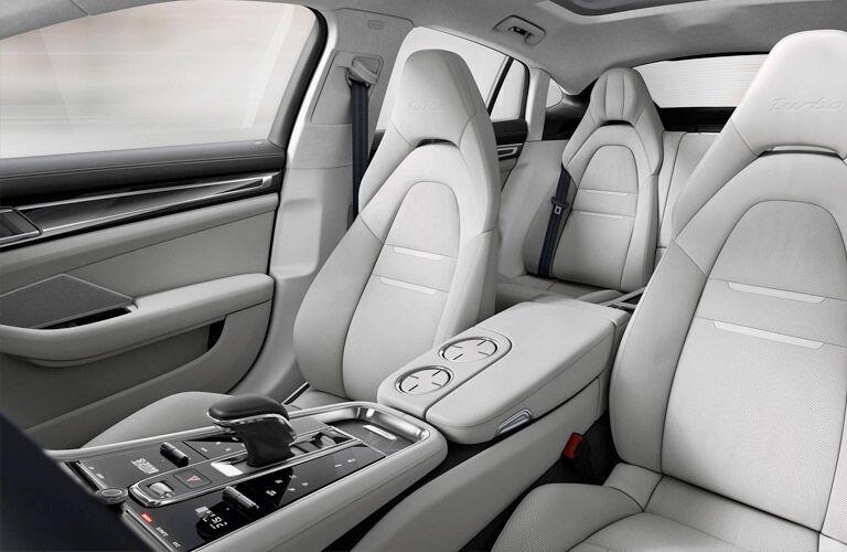 2018 Porsche Panamera front seat view