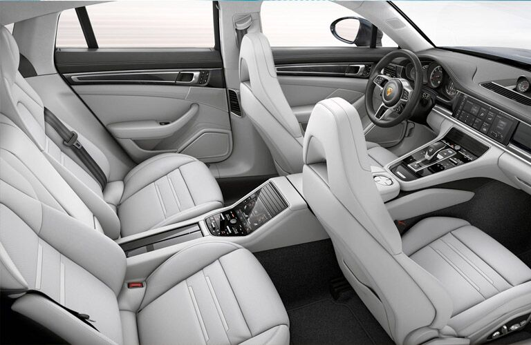 2018 Porsche Panamera upside down view of the seats