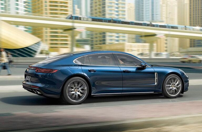 2018 Porsche Panamera driving outside