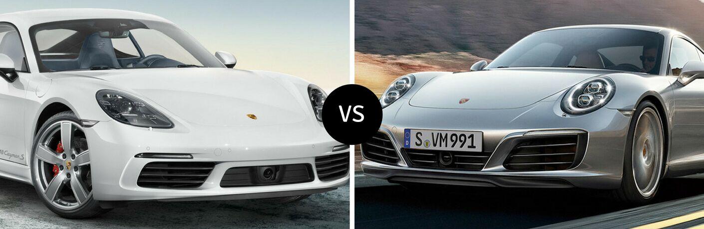2018 Porsche 718 vs 2018 Porsche 911