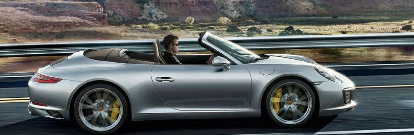 2018 Porsche 911 Driivng on Road