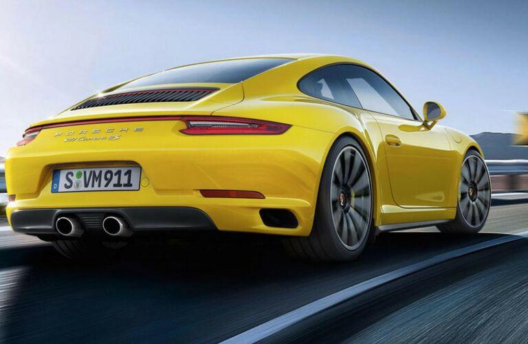 2018 Porsche 911 rear view