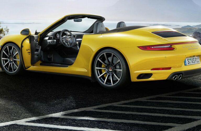 Side view of a 2018 Porsche 911