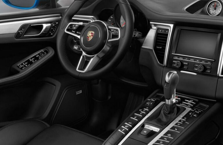 2018 Porsche Macan dash and wheel view.