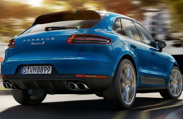 Rear view of a 2018 Porsche Macan