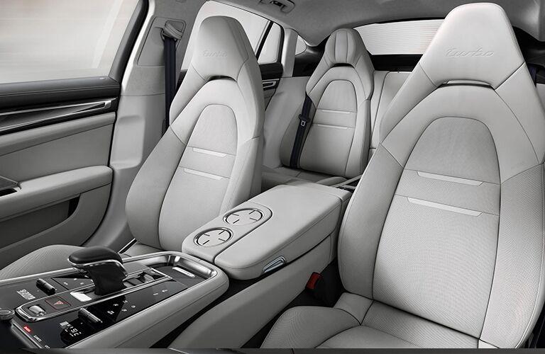 2019 Porsche Panamera front seat area