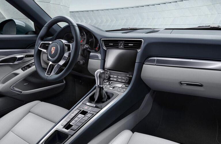 2019 Porsche 911 dash and wheel