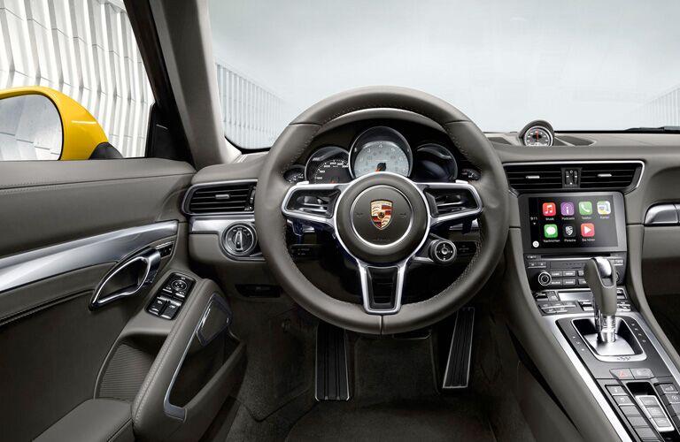 2018 Porsche 911 interior front steering wheel