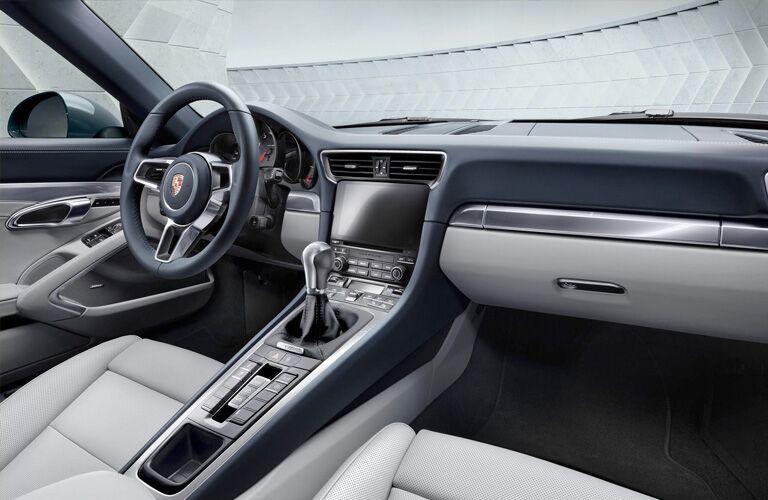 2018 Porsche 911 interior front from passenger's seat