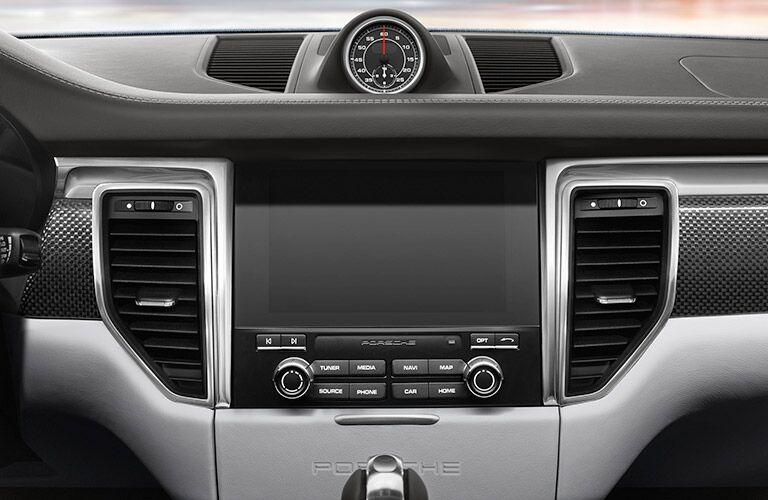 2018 Porsche Macan infotainment screen and clock