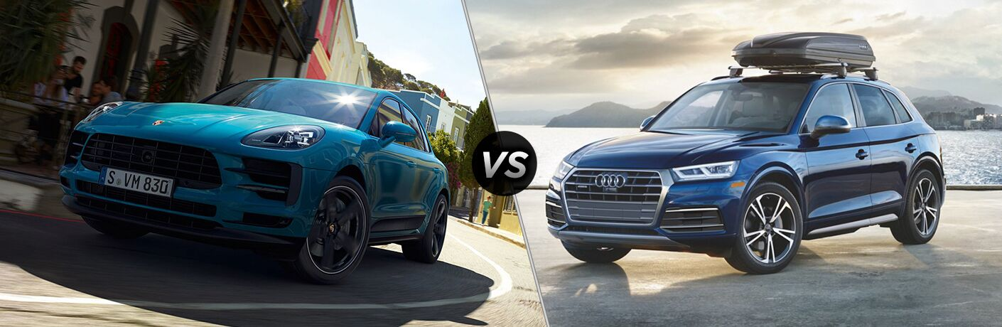 2018 Porsche Macan and 2018 Audi Q5 Side by Side