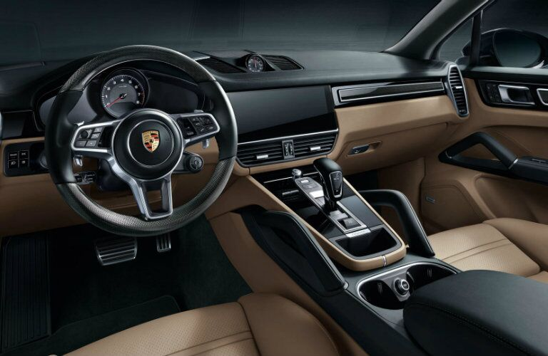 front dashboard in 2019 Porsche Cayenne