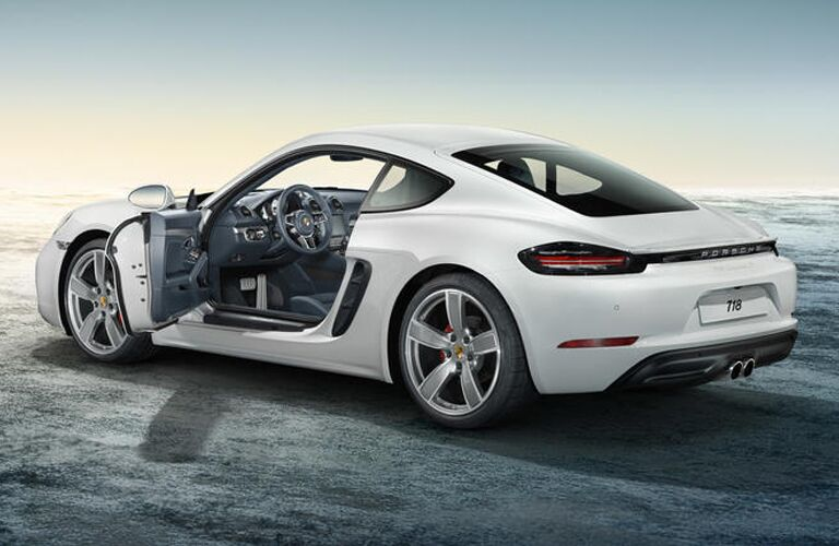 2019 Porsche 718 Cayman exterior back fascia and drivers side