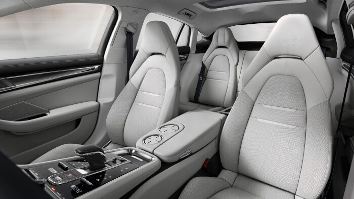 The spacious interior of the 2019 Porsche Panamera available at Loeber Porsche, near Park Ridge, IL