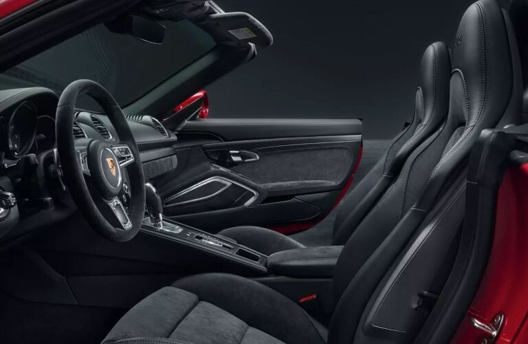 Front seat interior of the 2019 Porsche 718 Cayman GTS