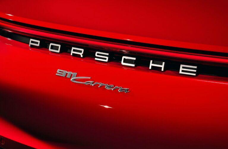 Porsche Carrera badge on the 2020 Porsche 911 Carrera Coupe