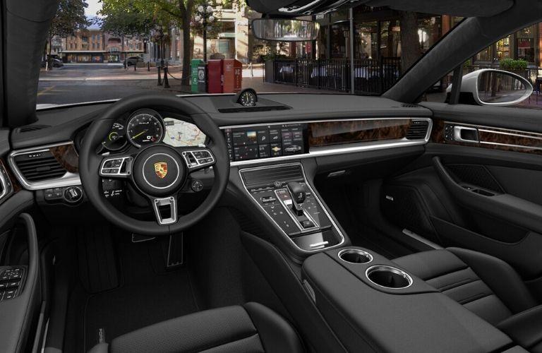Interior front dash of 2020 Porsche Panamera E-Hybrid