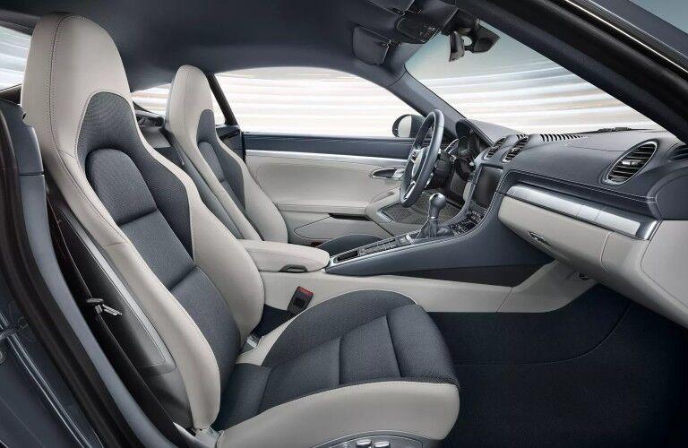 Interior front seats of 2020 Porsche 718 Cayman