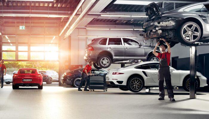 Loeber Motors Porsche has a great service & parts center