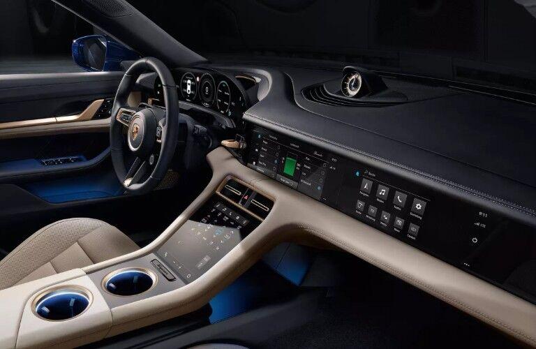 Touchscreens inside 2020 Porsche Taycan