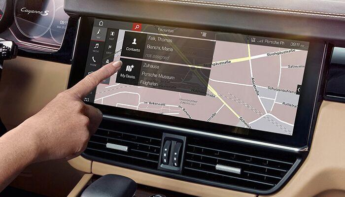 Porsche Connect App Navigation System