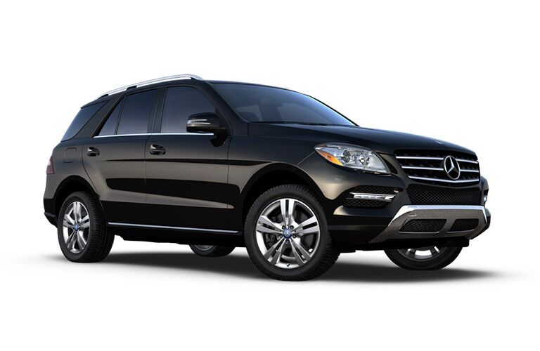 Side View of Black 2015 Mercedes-Benz M-Class SUV