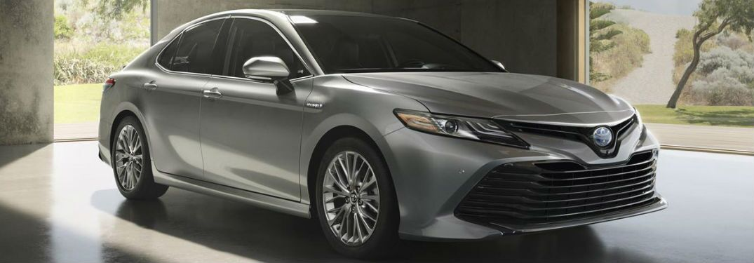 Front view of grey 2018 Toyota Camry