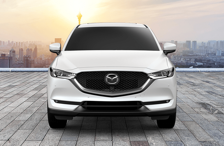 Front view of white 2019 Mazda CX-5