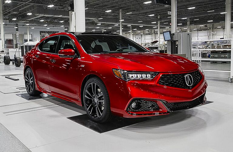 2020 Acura TLX inside a building
