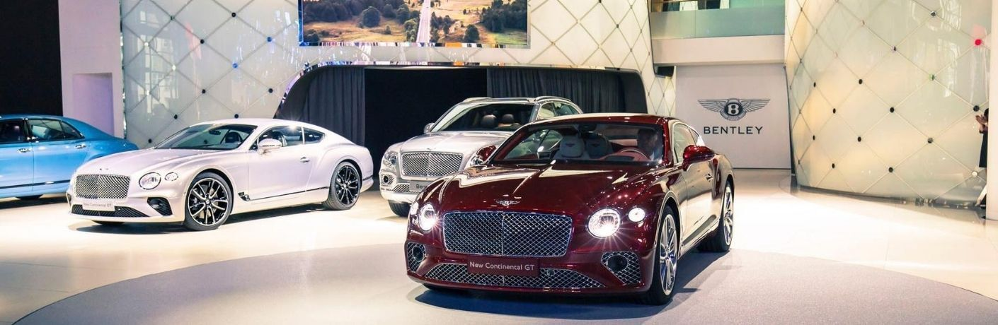 Image of the vehicles that make up the 2020 Bentley model lineup