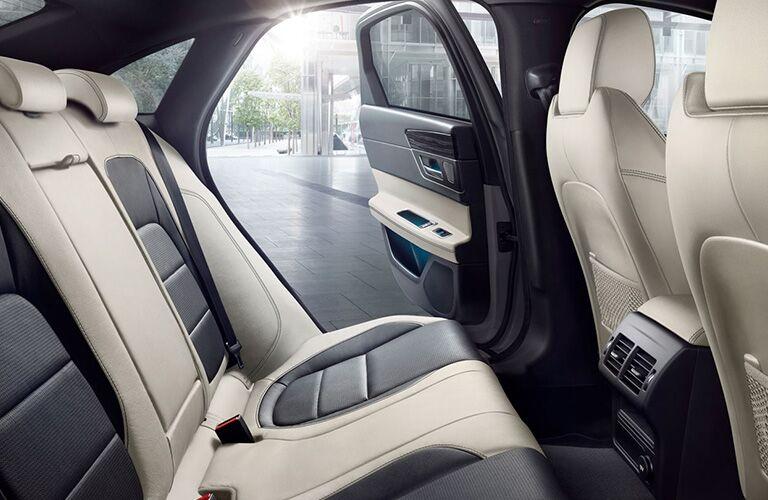 2020 Jaguar XF tan and black back seats