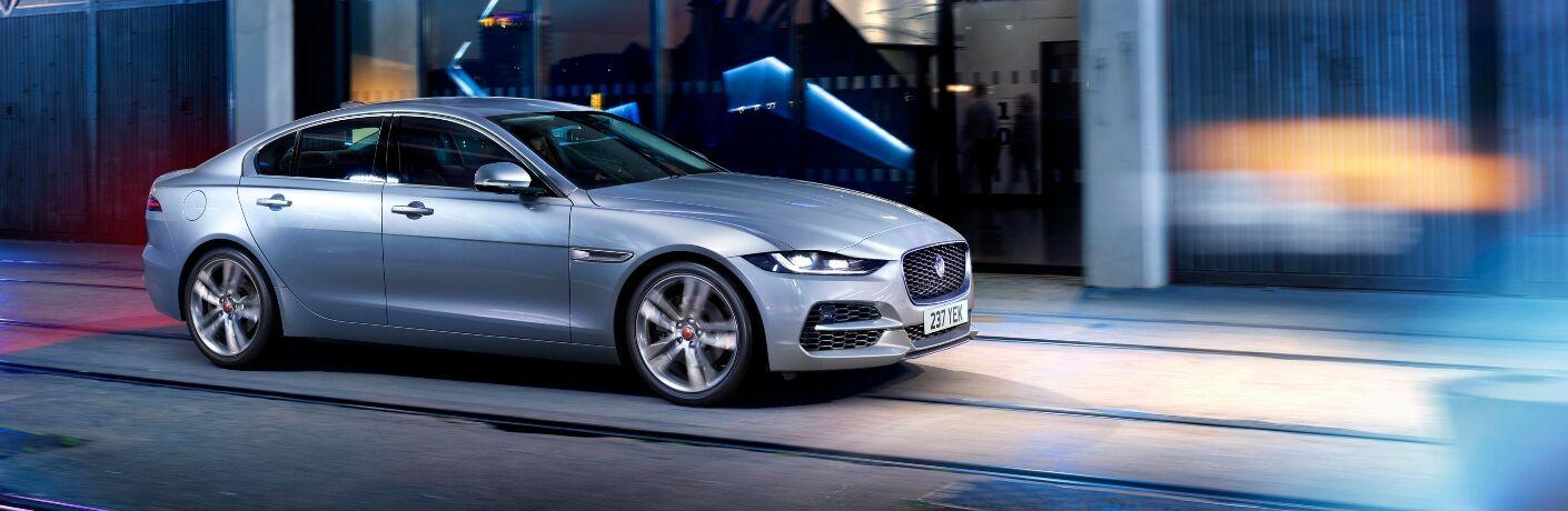 2020 Jaguar XE silver side view