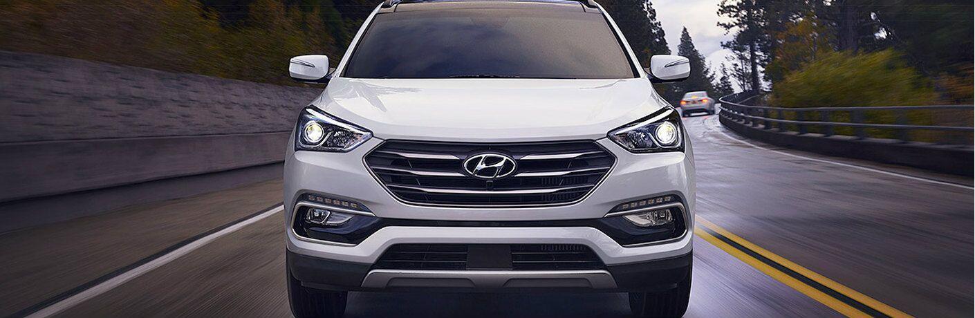 2017 Hyundai Santa Fe front fascia