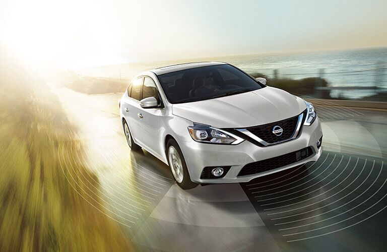 2018 Nissan Sentra white front view