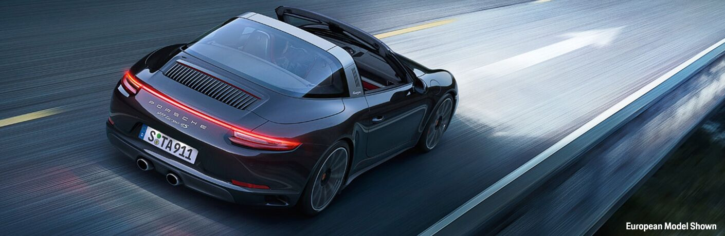 2019 Porsche 911 Targa 4 on the road