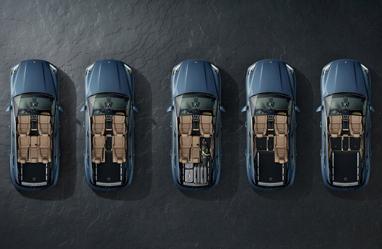 2018 Porsche Cayenne models showing cargo configurations