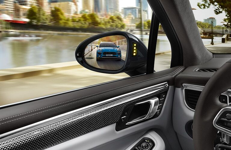 2020 Porsche Macan with another Macan in the side mirror