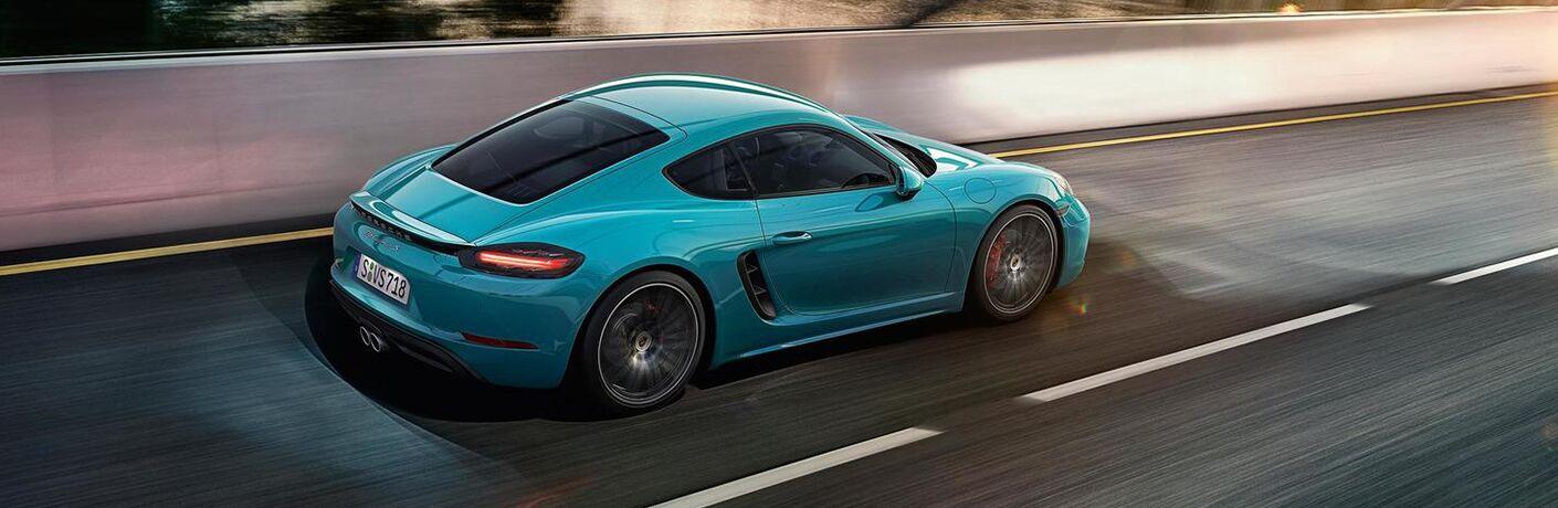 2019 Porsche 718 GTS on the road
