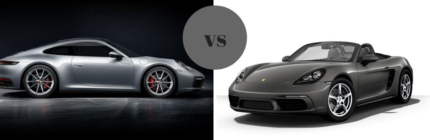 2019 Porsche 718 Boxster vs 2019 Porsche 911 Carrera