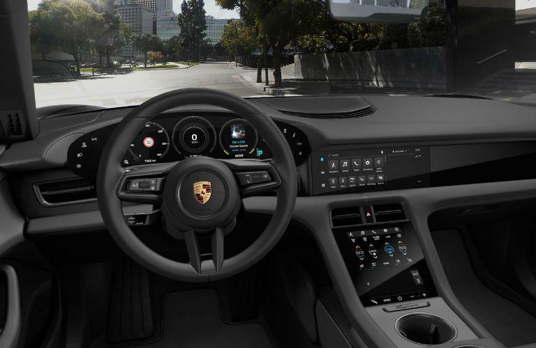 2020 Porsche Taycan front interior