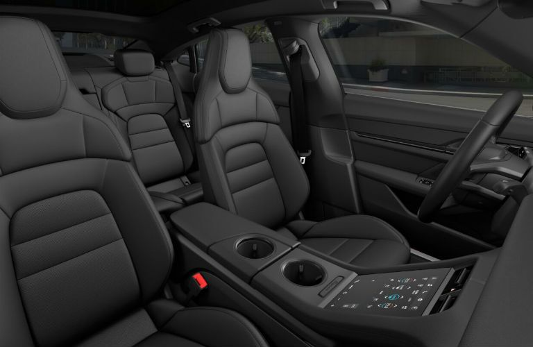 2020 Porsche Taycan interior profile