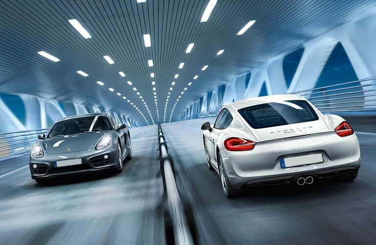 2016 Porsche Panamera with another Porsche Panamera