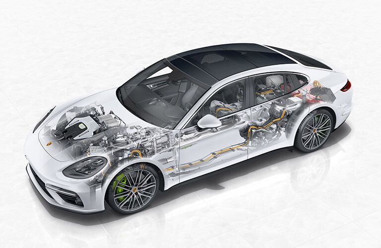 2018 Porsche Panamera showing performance engineering