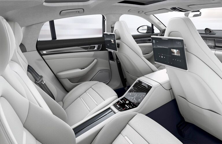 2018 Porsche Panamera rear seats with entertainment system