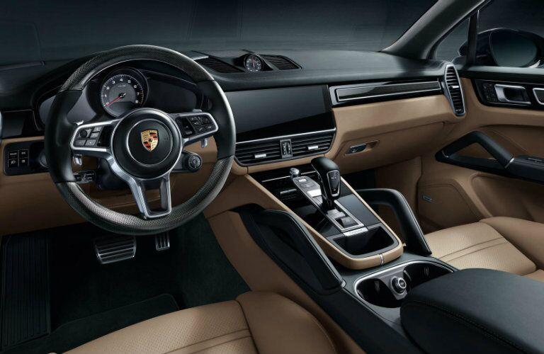 2019 Porsche Cayenne front interior
